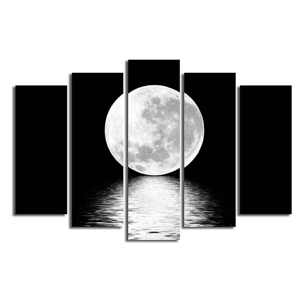Vícedílný obraz White Moon, 105x70 cm