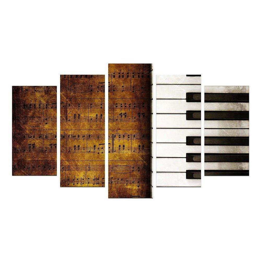 Vícedílný obraz Piano, 110x60 cm