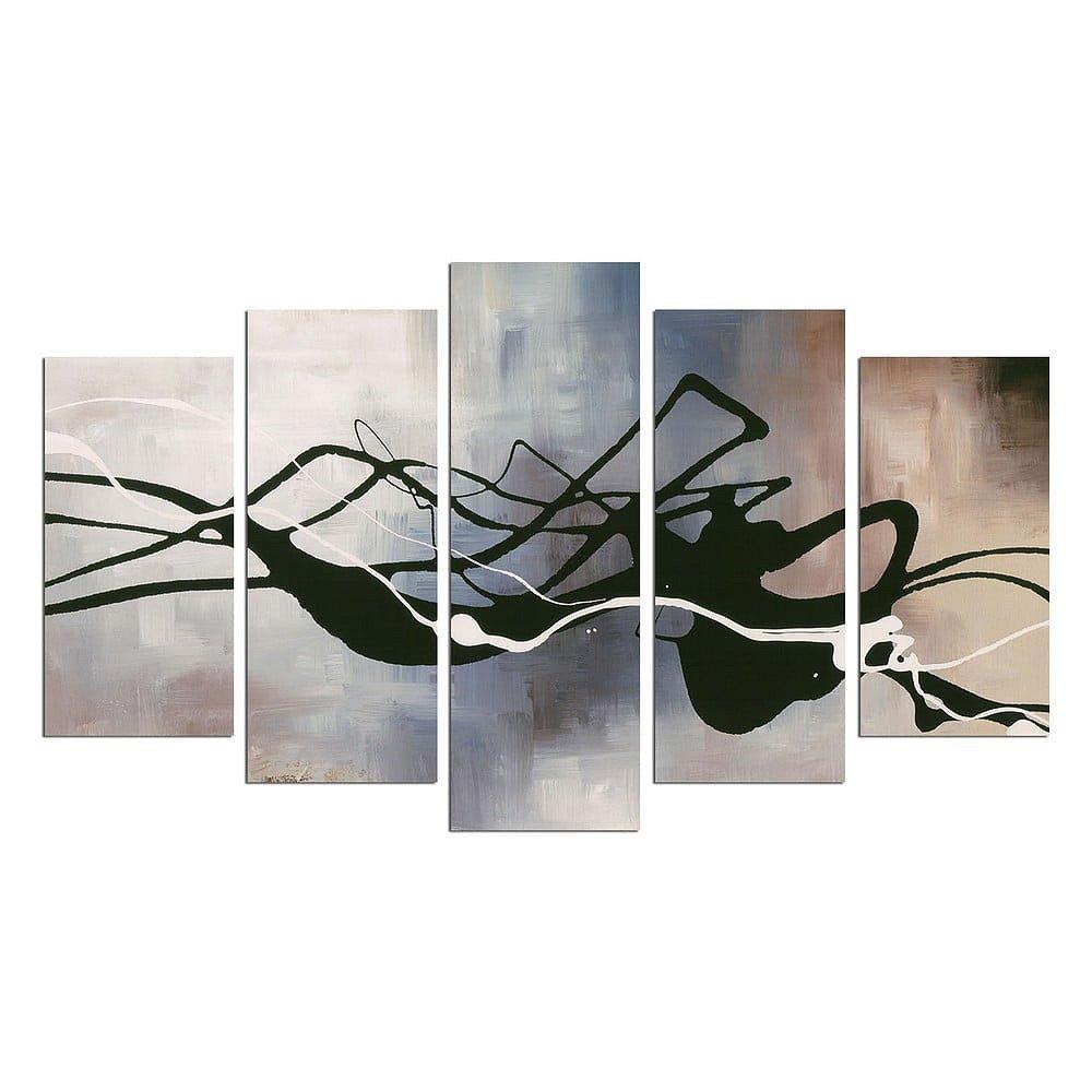 Vícedílný obraz Black Lines, 110x60 cm