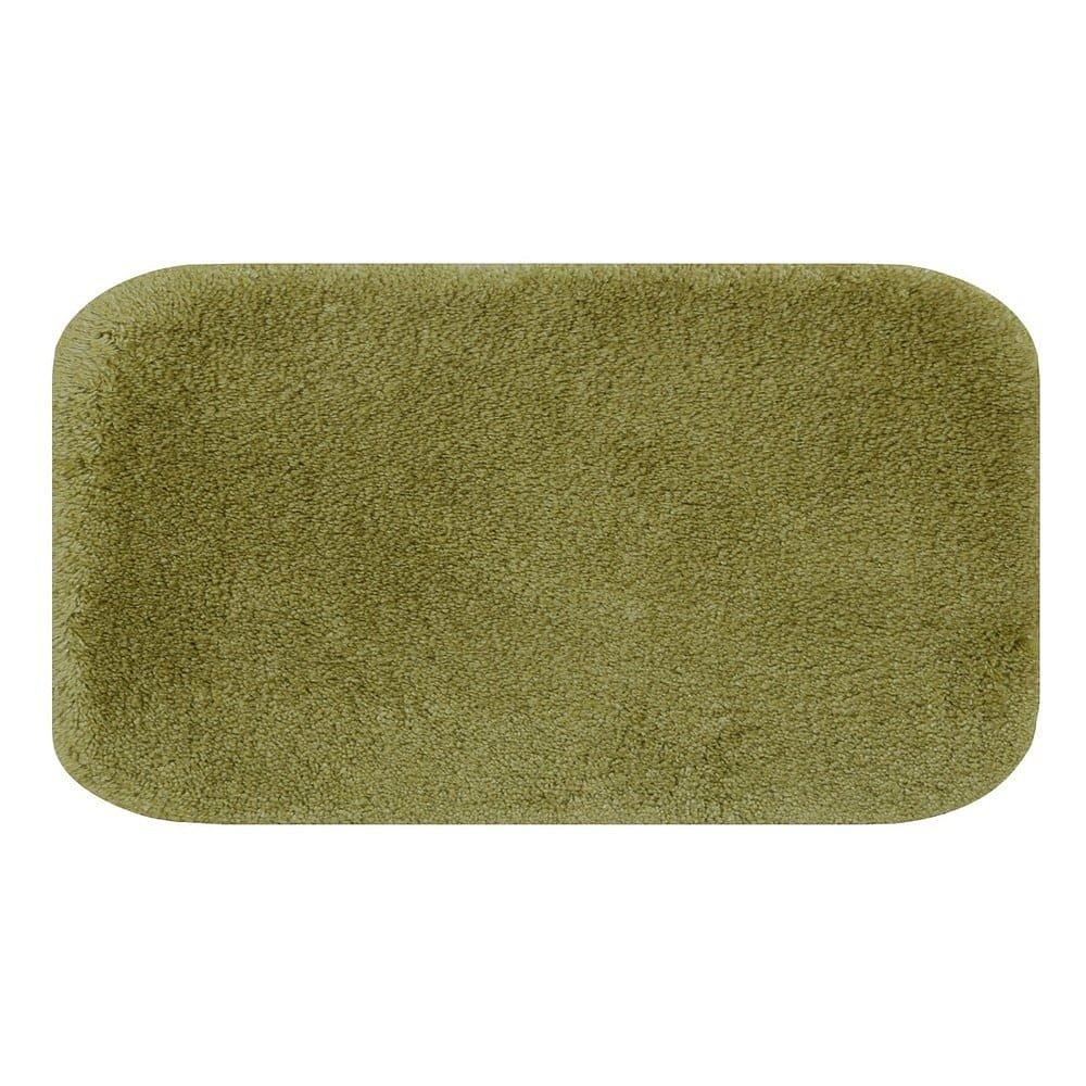 Zelená koupelnová předložka Confetti Miami, 57x100cm