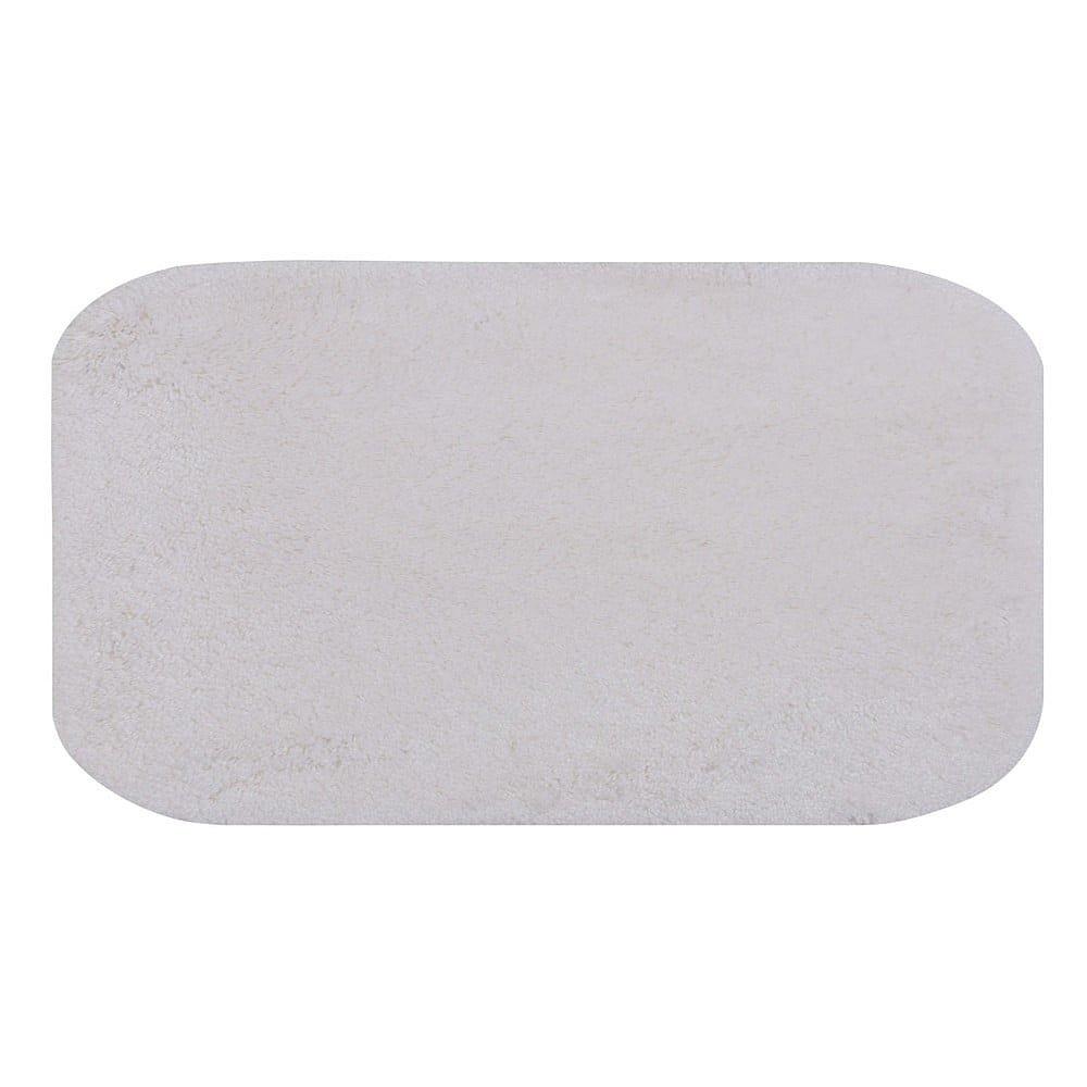Bílá koupelnová předložka Confetti Miami, 57x100cm