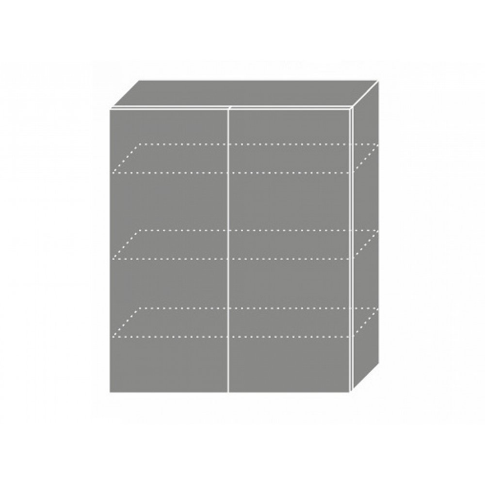 QUANTUM, skříňka horní W4 80, beige mat/grey