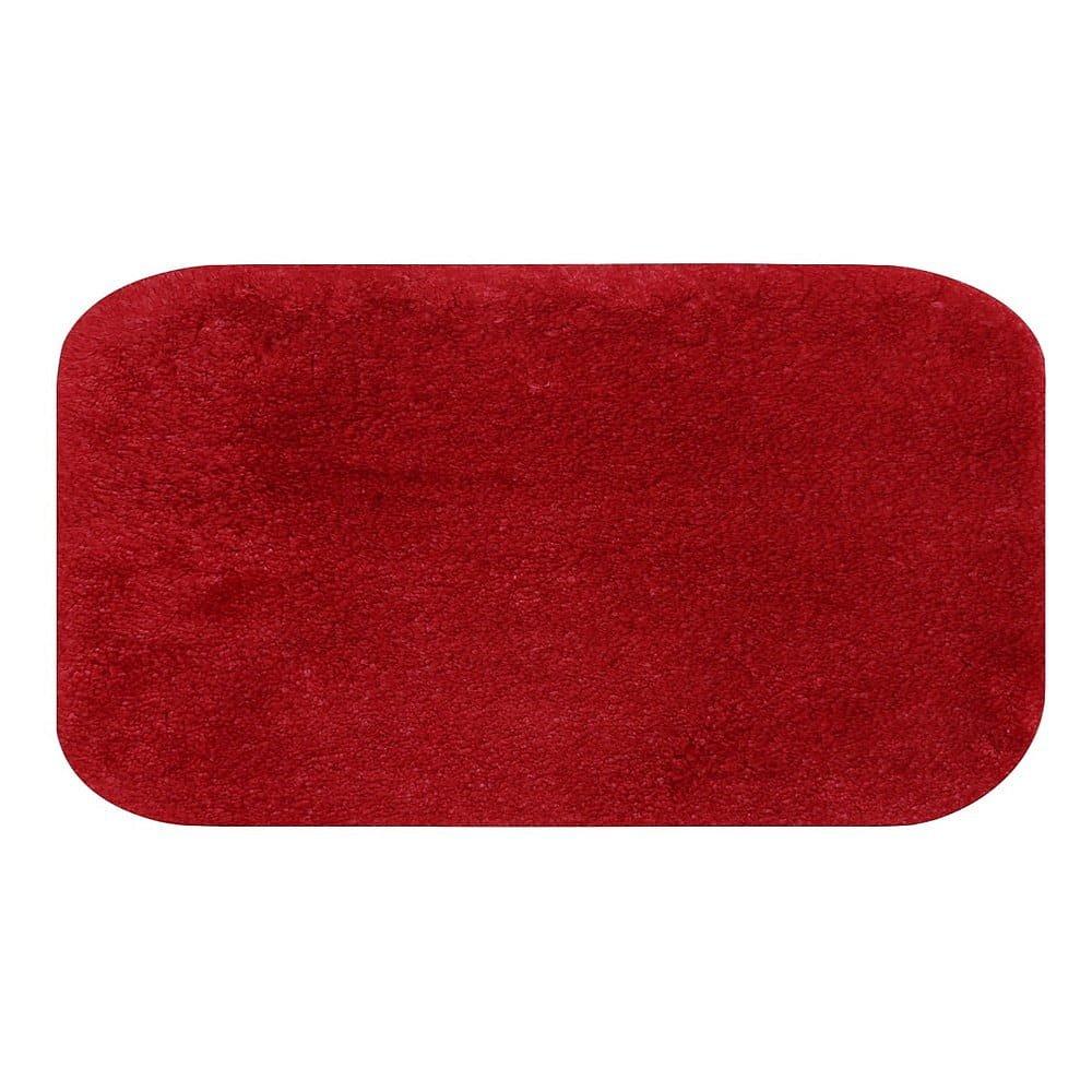 Červená koupelnová předložka Confetti Miami, 57 x 100 cm
