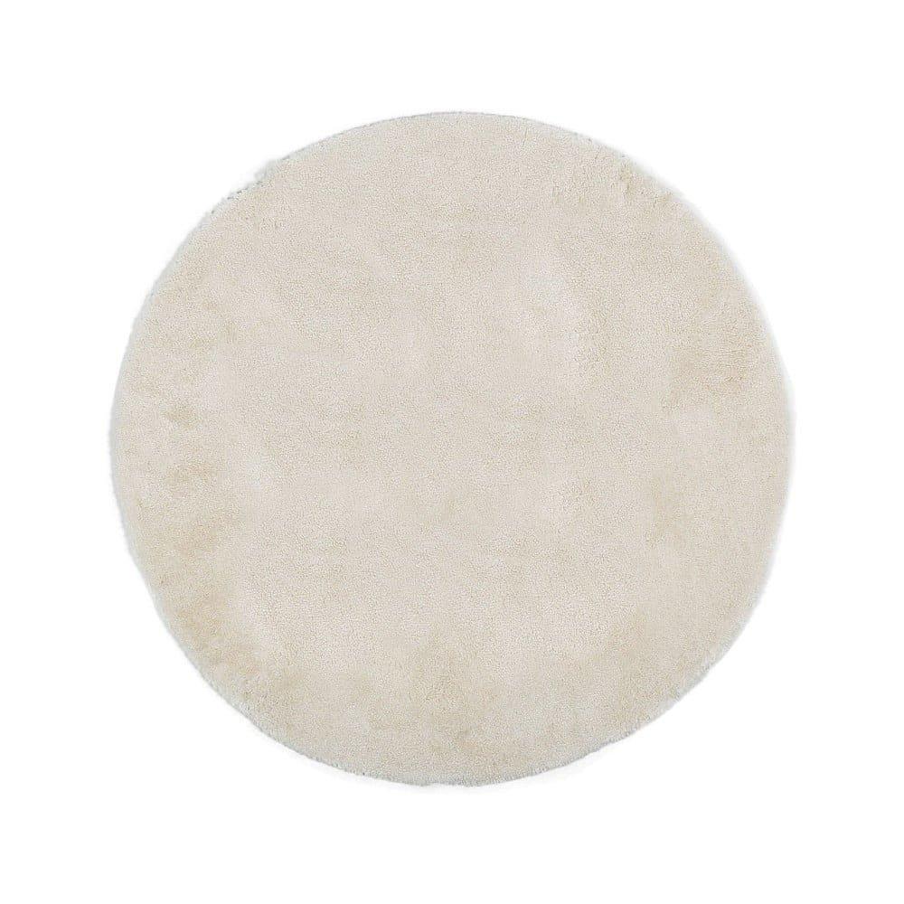 Krémová předložka do koupelny Confetti Miami, ⌀100 cm