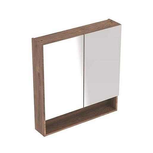 Zrcadlová skříňka Geberit Selnova 78,8x85 cm lamino ořech hickory 501.270.00.1