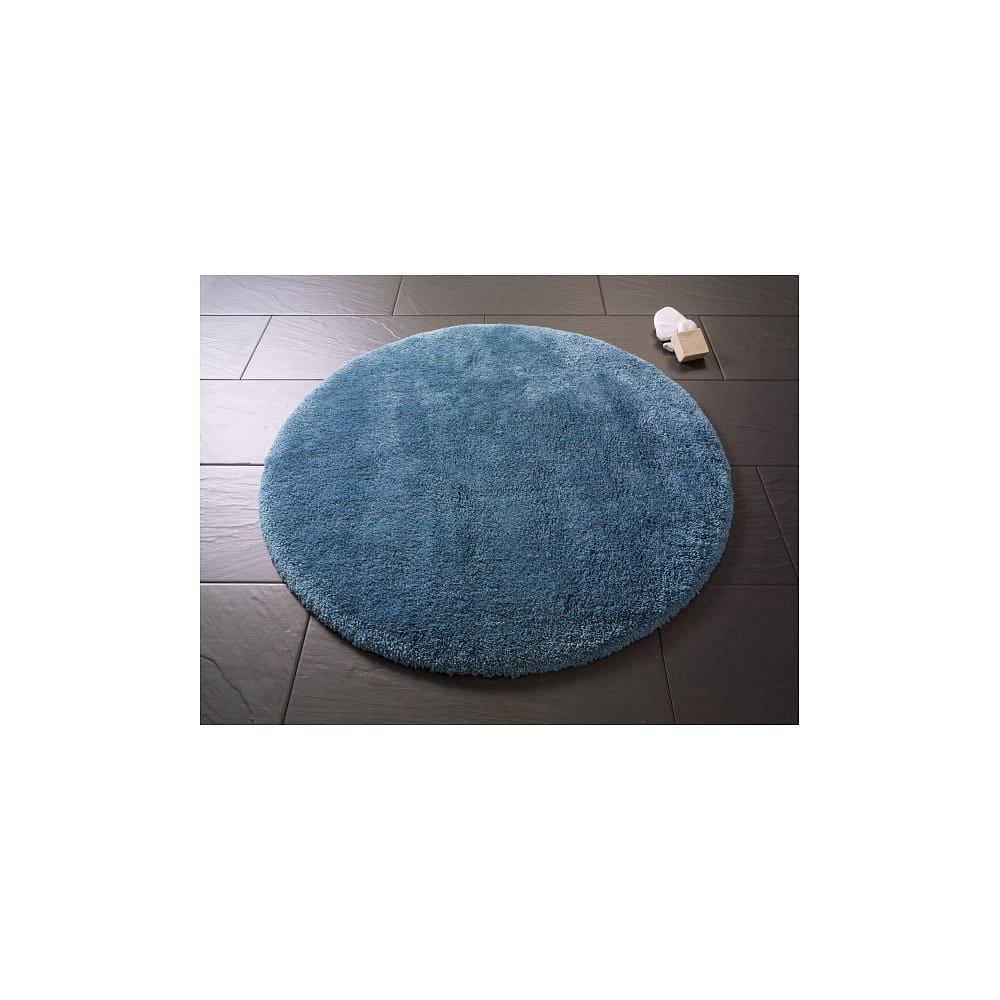 Modrá kulatá koupelnová předložka Confetti Miami, ⌀100 cm