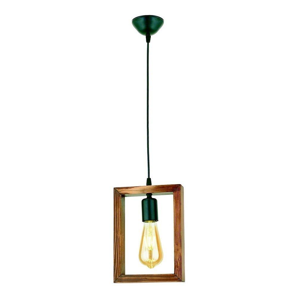Závěsné svítidlo z habrového dřeva Geometrik Square