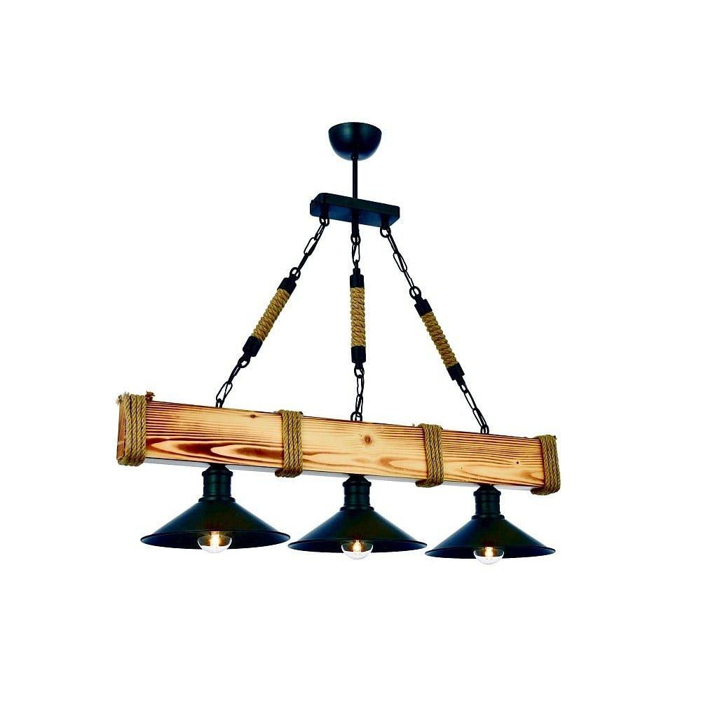Závěsné svítidlo z habrového dřeva Kütük Yanık