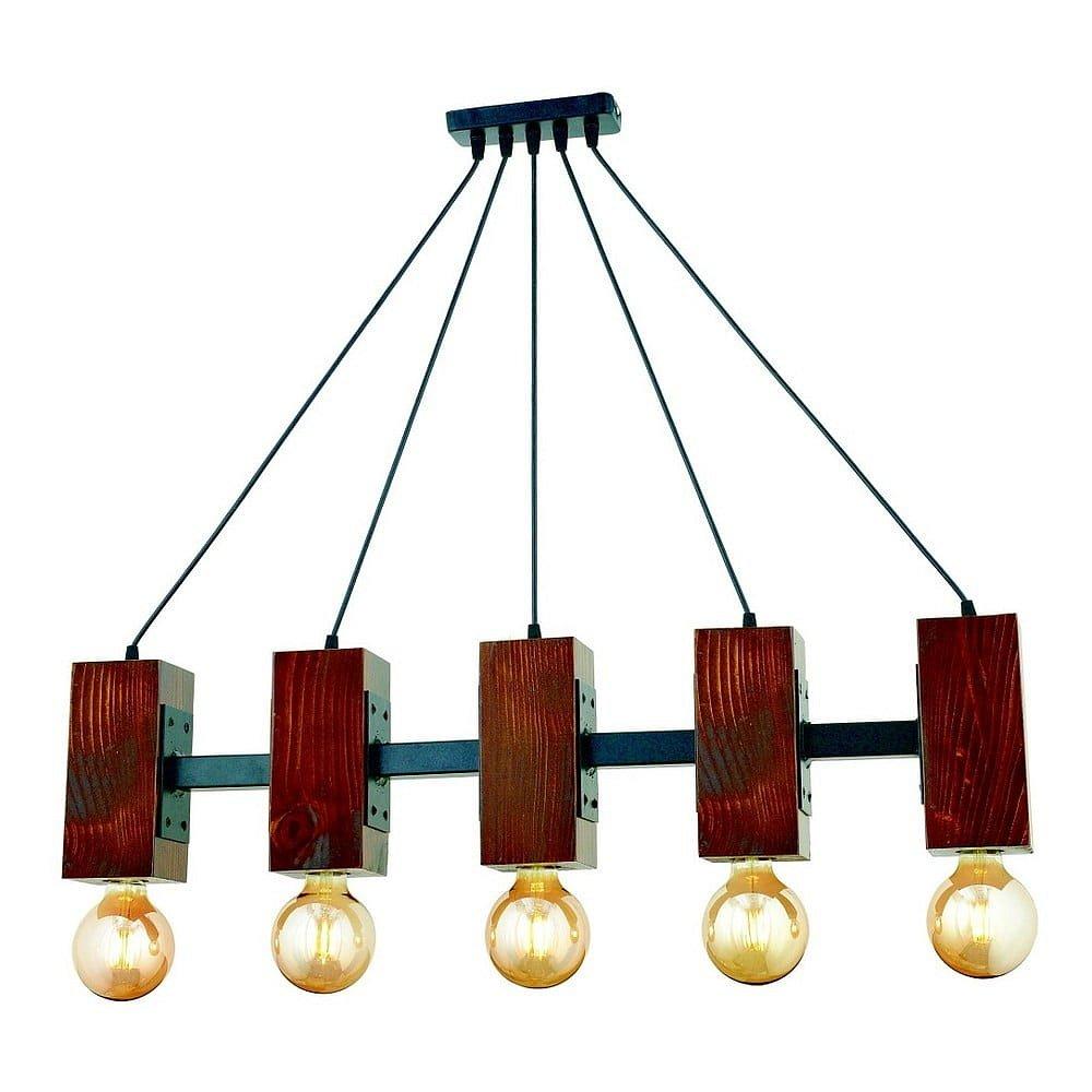 Závěsné svítidlo z habrového dřeva Carina 5li