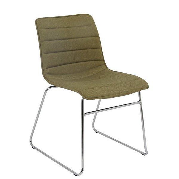 Jídelní židle Rudul, zelená látka