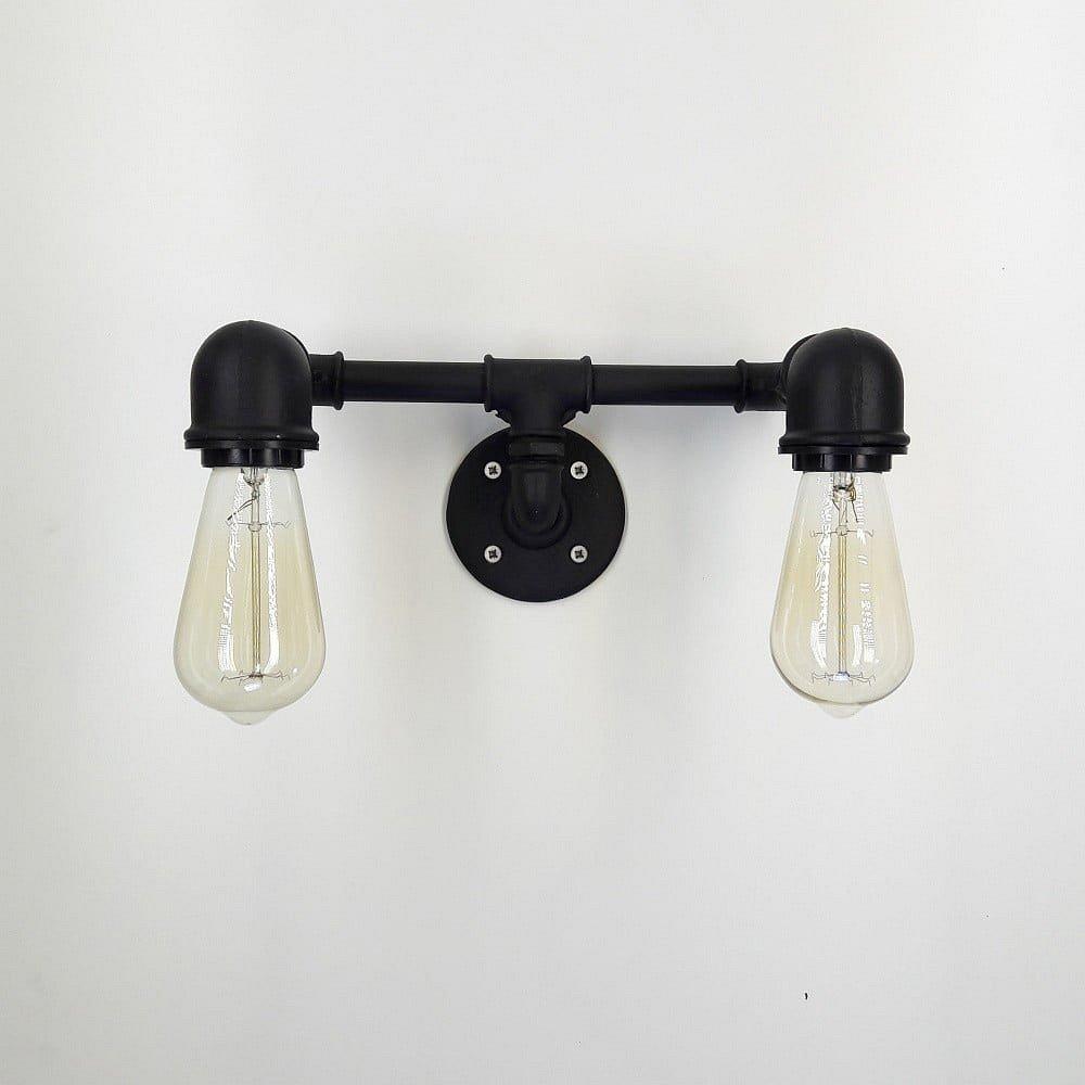 Černé nástěnné svítidlo Aplik Lento