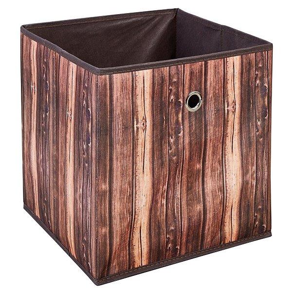 Úložný box Wuddi 2, motiv dřeva