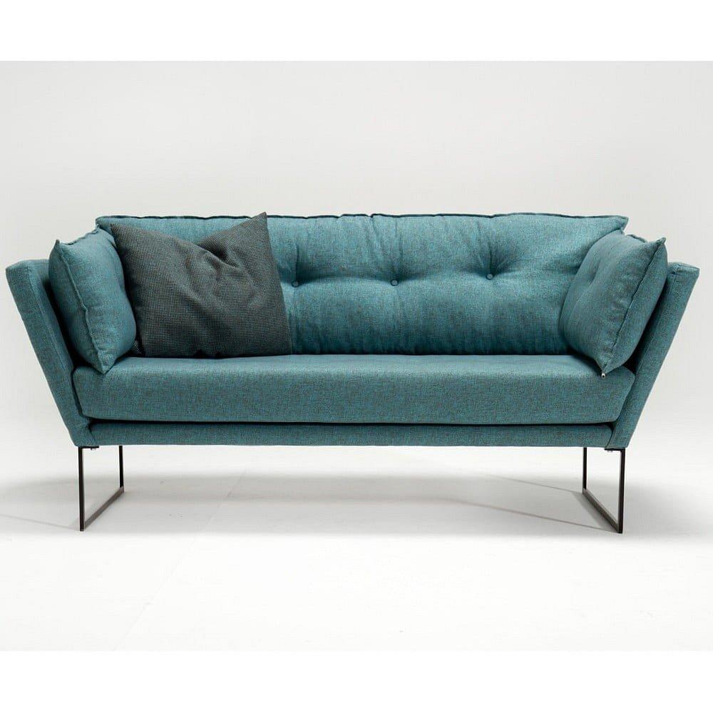 Zelenomodrá trojmístná pohovka Relax