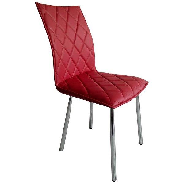 Jídelní židle Irina, červená ekokůže