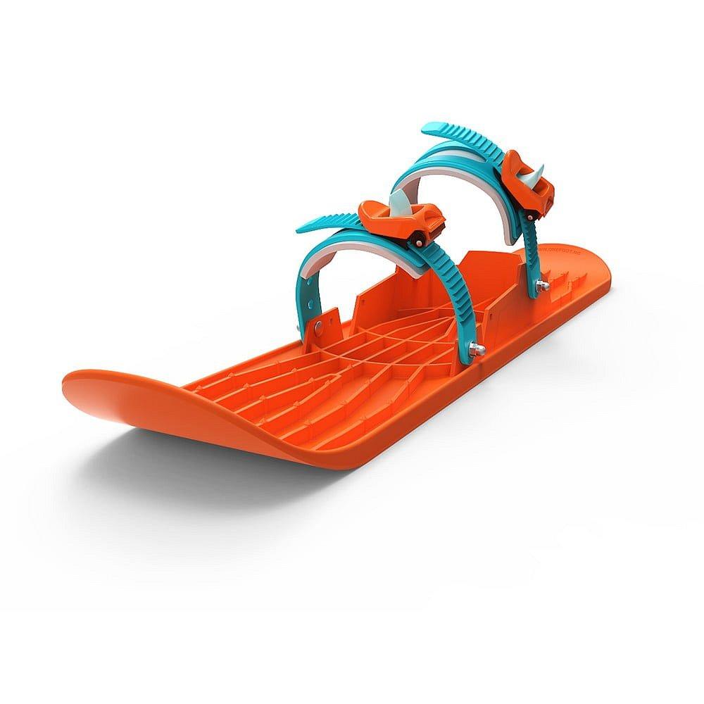 Plastová oranžová zimní lyže Gizmo Onefoot Miniski, 72 cm