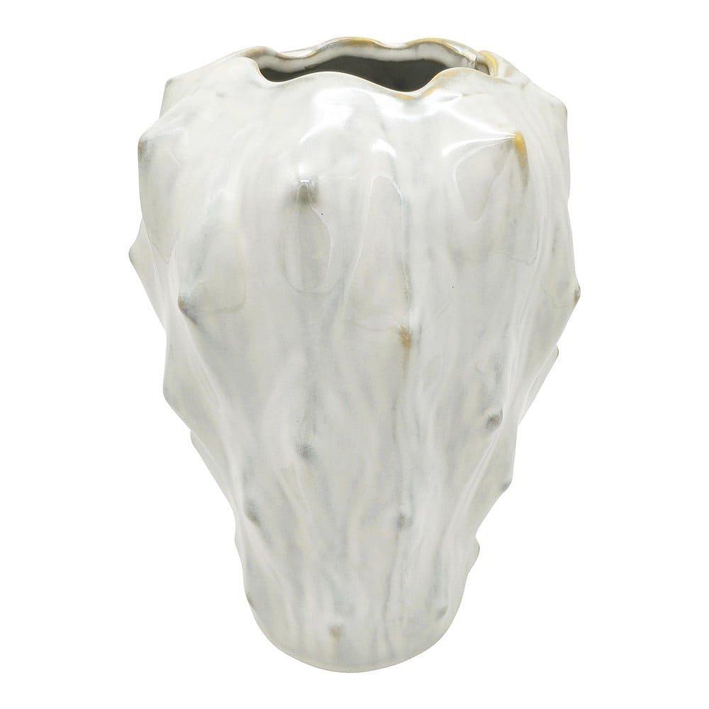 Slonovinově bílá keramická váza PT LIVING Flora, výška 23,5 cm