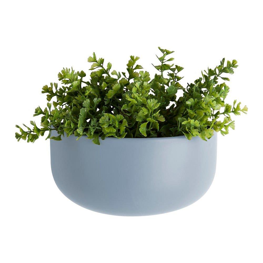 Modrý nástěnný květináč PT LIVING Oval, výška 9,5 cm