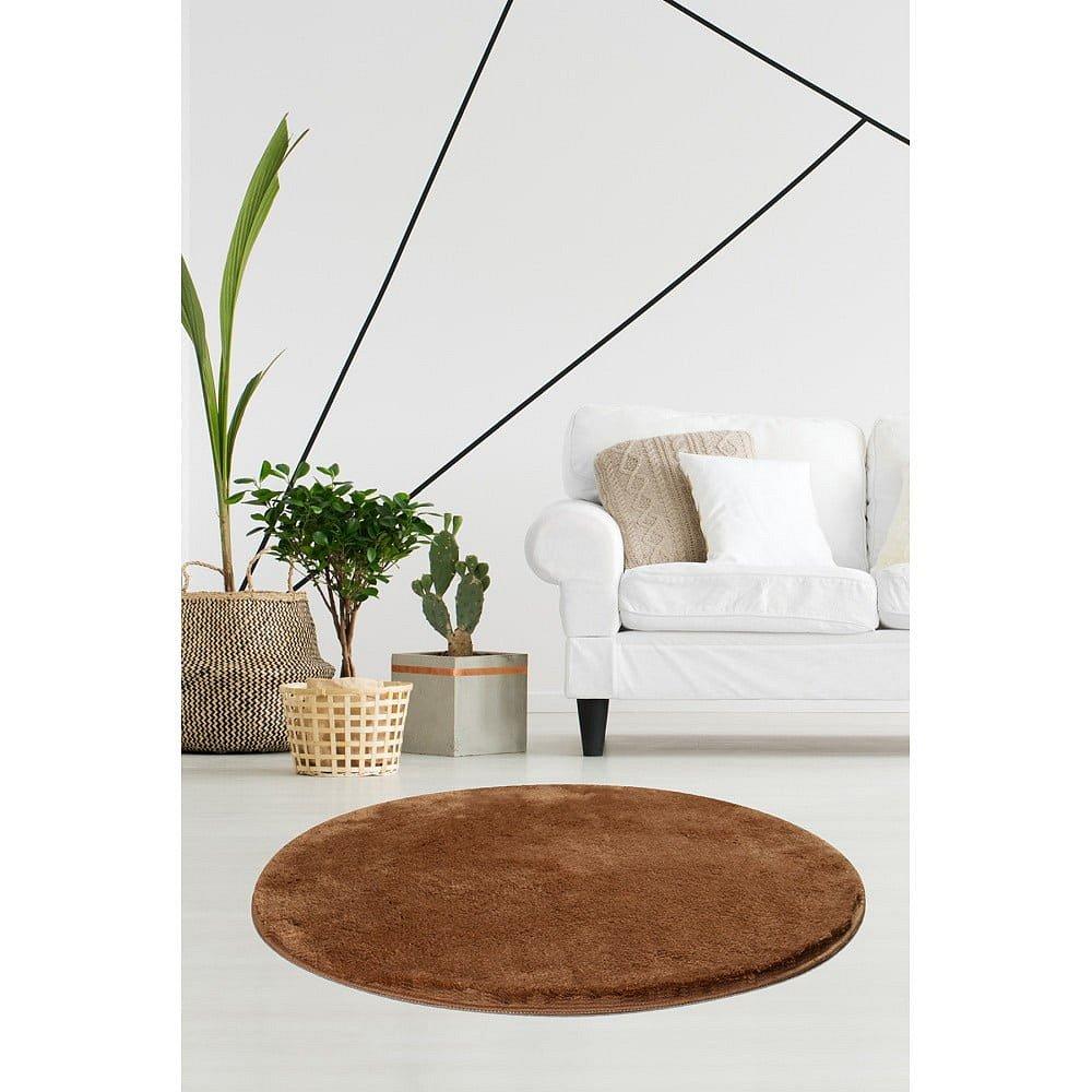 Béžový koberec Milano, ⌀90cm