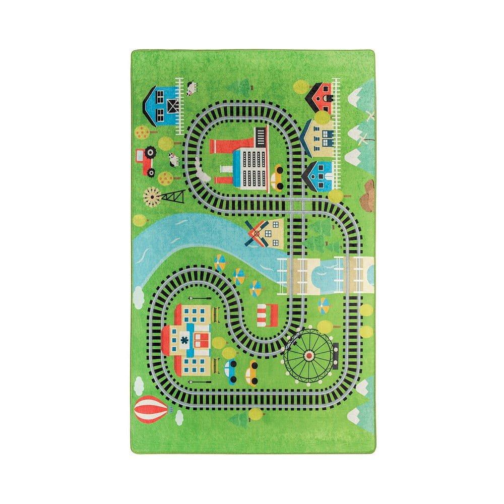 Dětský koberec Train, 100x160cm