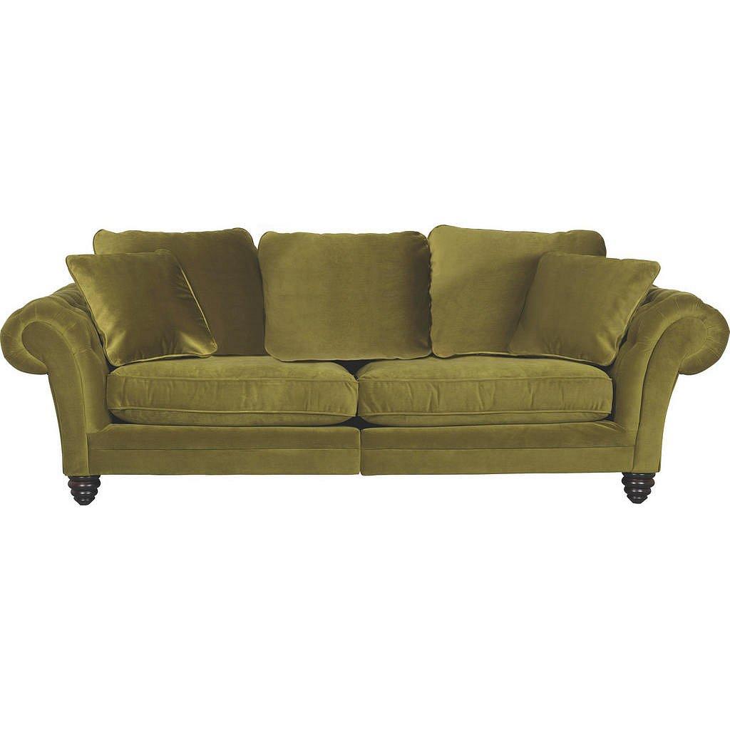 Ambia Home Mega Pohovka, Textil, Zelená - Velké pohovky - 001877044401