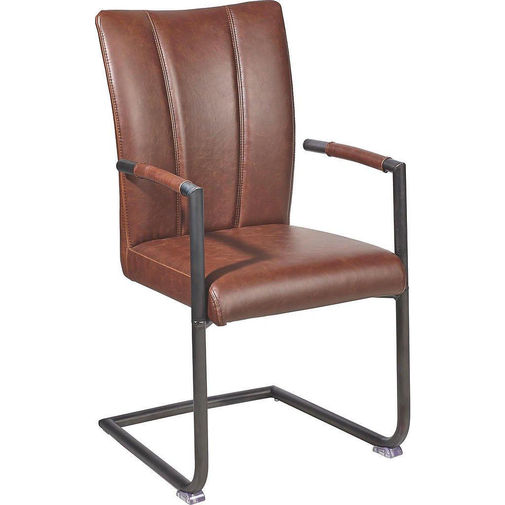 Ambia Home Židle S Područkami, Hnědá, - Židle s područkami - 002731003401