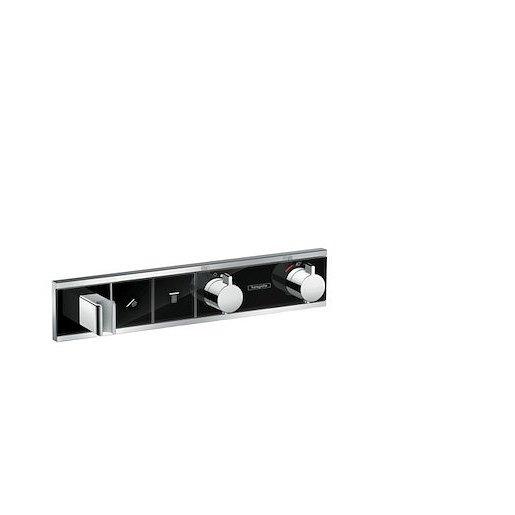 Vanová baterie Hansgrohe Rainselect bez podomítkového tělesa černá/chrom 15355600