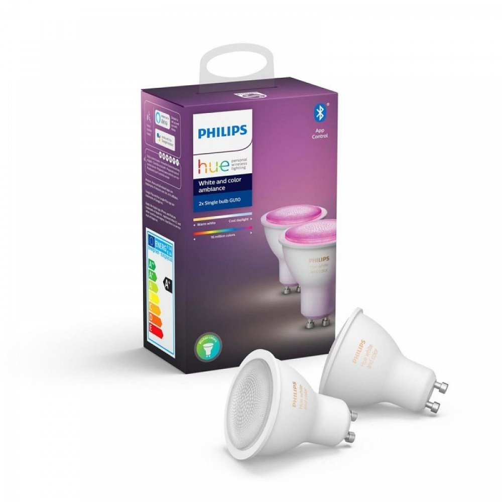 Žárovka LED Philips Hue Bluetooth sada, GU10, 5,7 W, 700 lm
