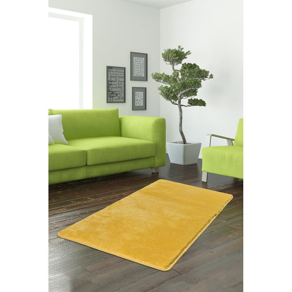 Žlutý koberec Milano, 120x70cm