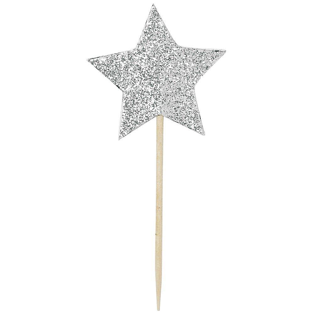 Sada 12 zapichovacích dekorací na dort Miss Étoile Star