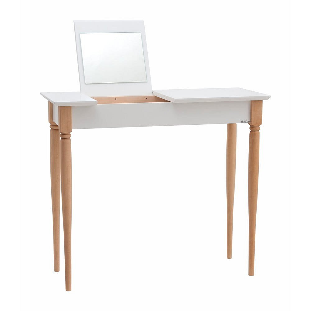 Bílý toaletní stolek Ragaba Mamo, šířka 85 cm