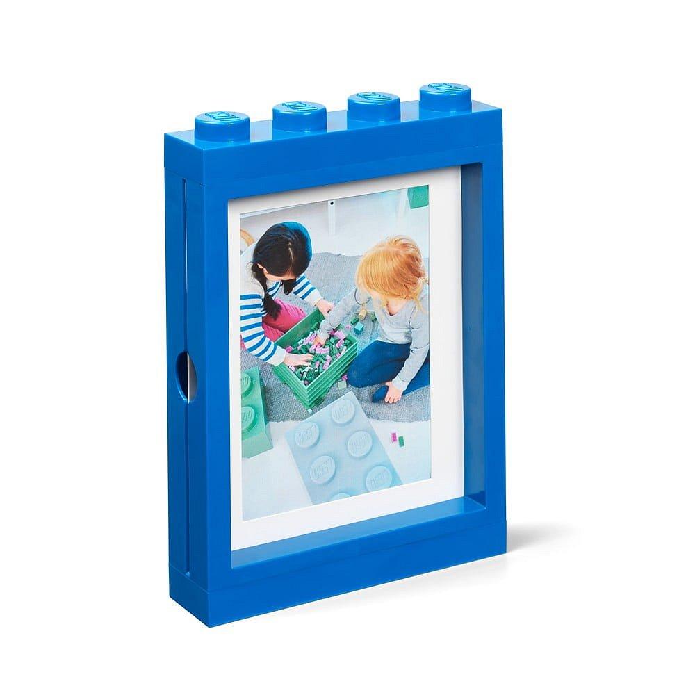 Modrý rámeček na fotku LEGO®, 19,3x4,7 cm