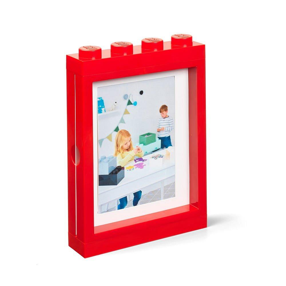 Červený rámeček na fotku LEGO®, 19,3x4,7 cm