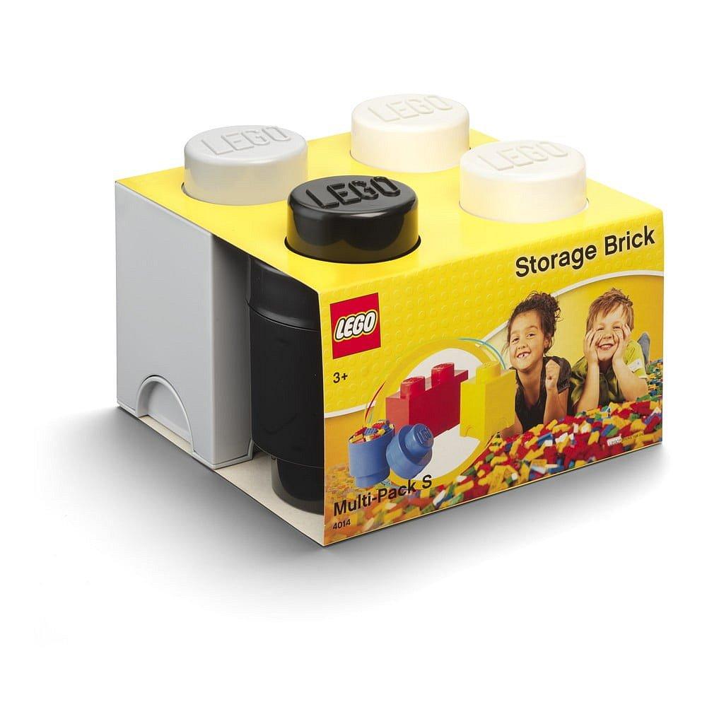 Set 3 ks plastových úložných krabic na LEGO®, 25x25,2x18,1cm
