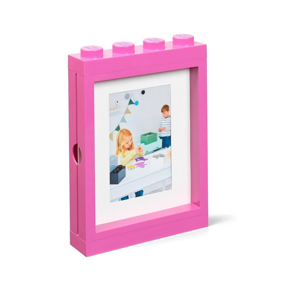Růžový rámeček na fotku LEGO®, 19,3x4,7 cm