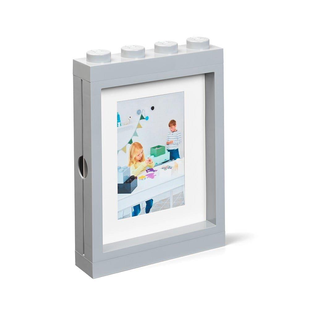 Šedý rámeček na fotku LEGO®, 19,3x4,7 cm