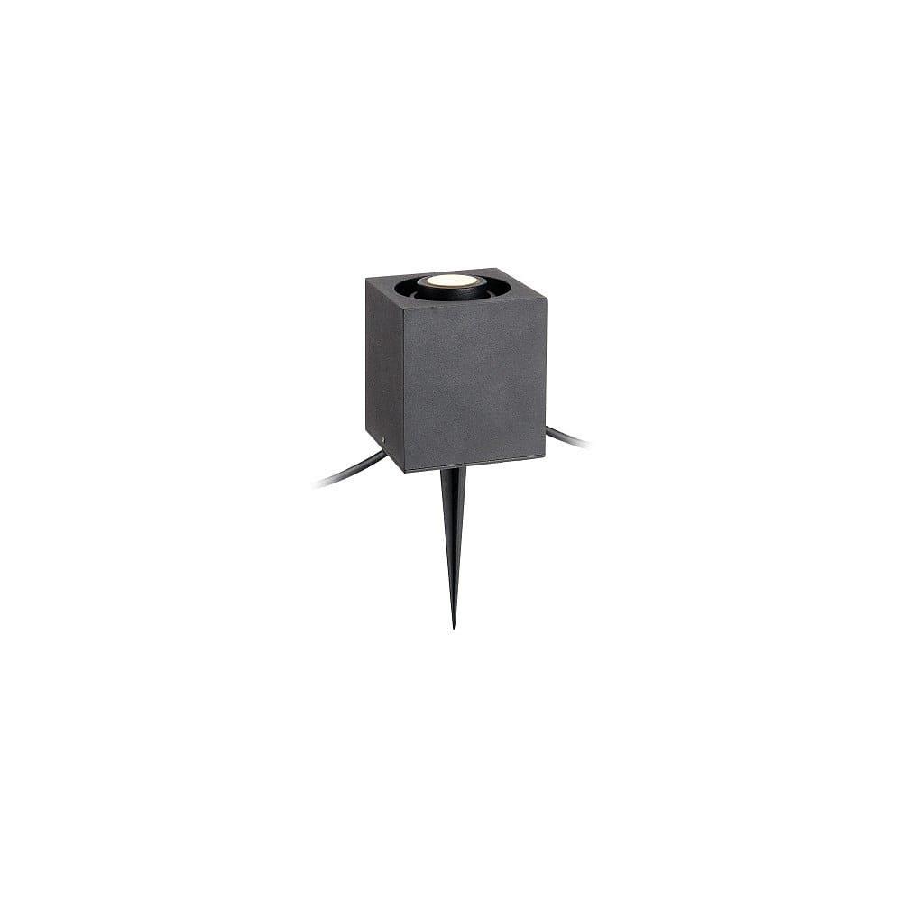 Černé hranaté zápustné svítidlo Markslöjd Garden 24, 3 W