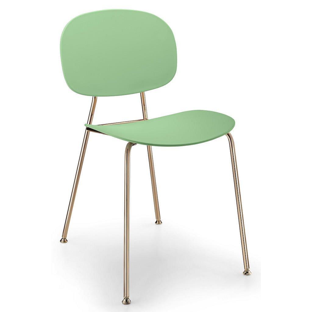 Abc Židle, Zelená, Světle Zelená, Měděné Barvy - Jídelní židle - 000932000601