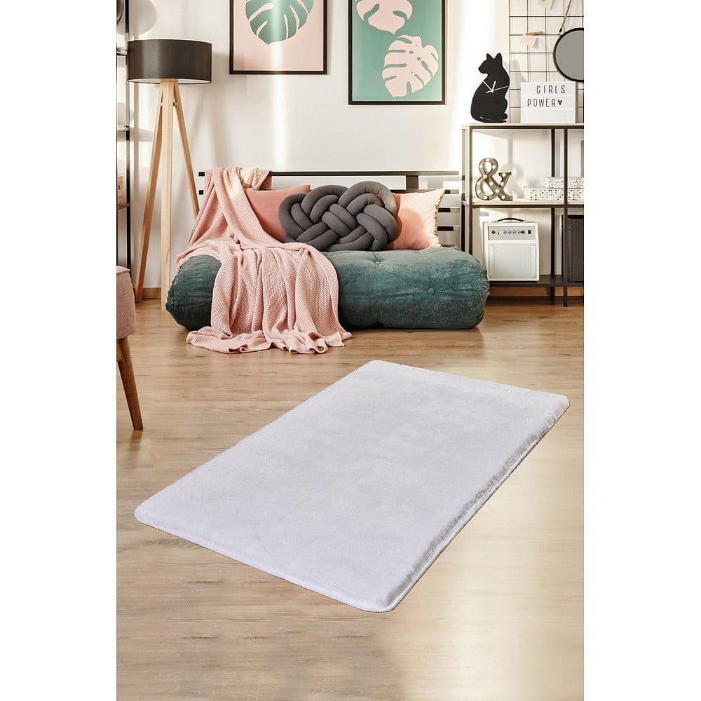 Bílý koberec Milano, 140x80cm