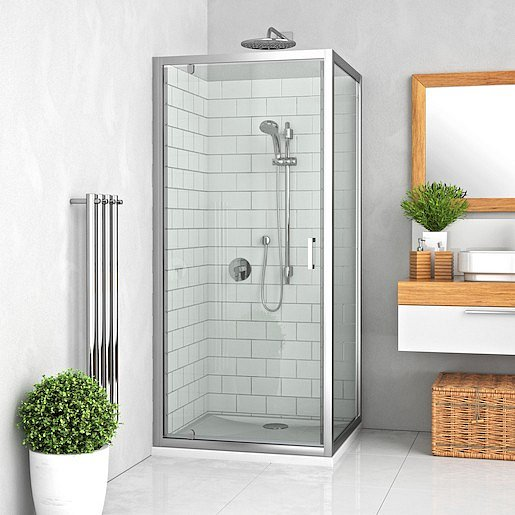 Boční zástěna ke sprchovým dveřím 100x190 cm Roth Lega Line chrom lesklý 553-1000000-00-21