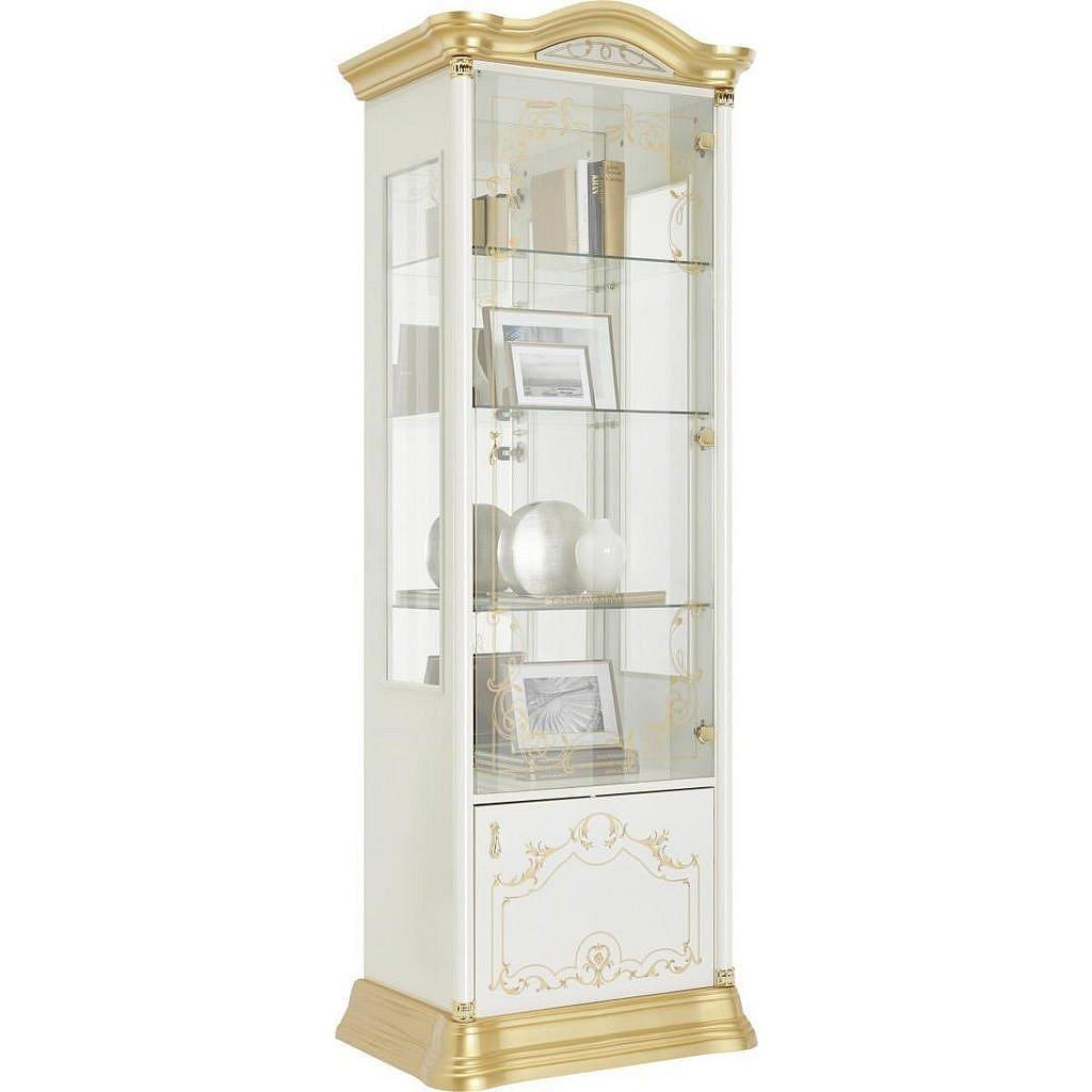 Cantus Vitrína, Bílá, Barvy Zlata - Vitrínové skříně - 002358000502