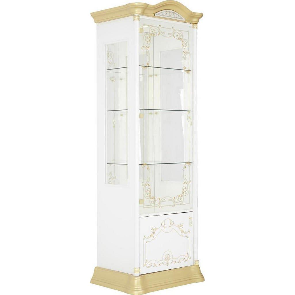 Cantus Vitrína, Bílá, Barvy Zlata - Vitrínové skříně - 002358000501