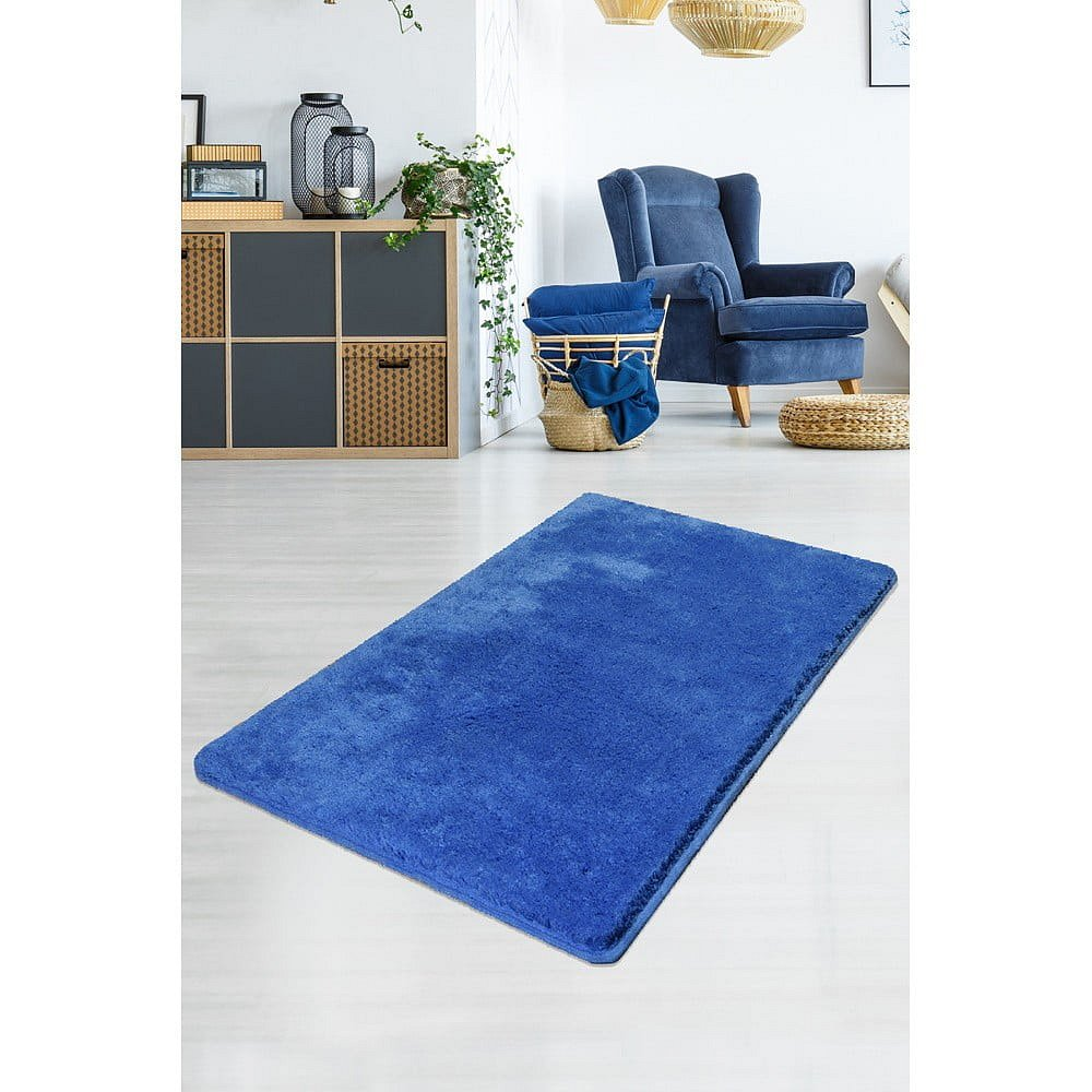 Modrý koberec Milano, 140x80cm