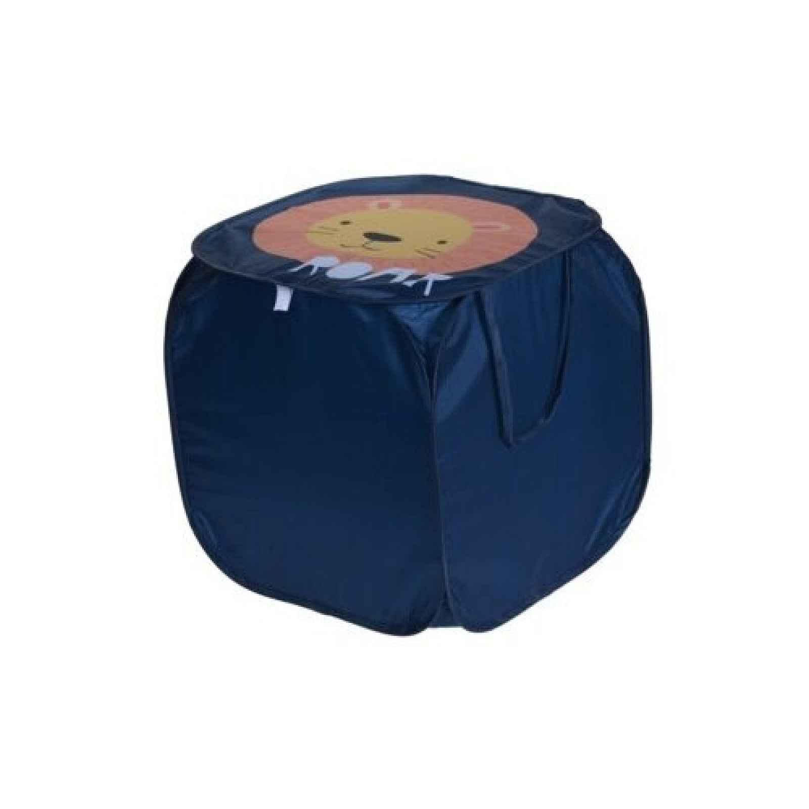 Textilní úložný box Hatu, lev, 45 x 45 x 45 cm