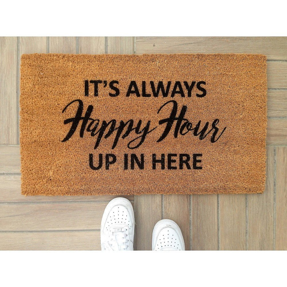 Rohožka Doormat Happy Hour, 70 x 40 cm