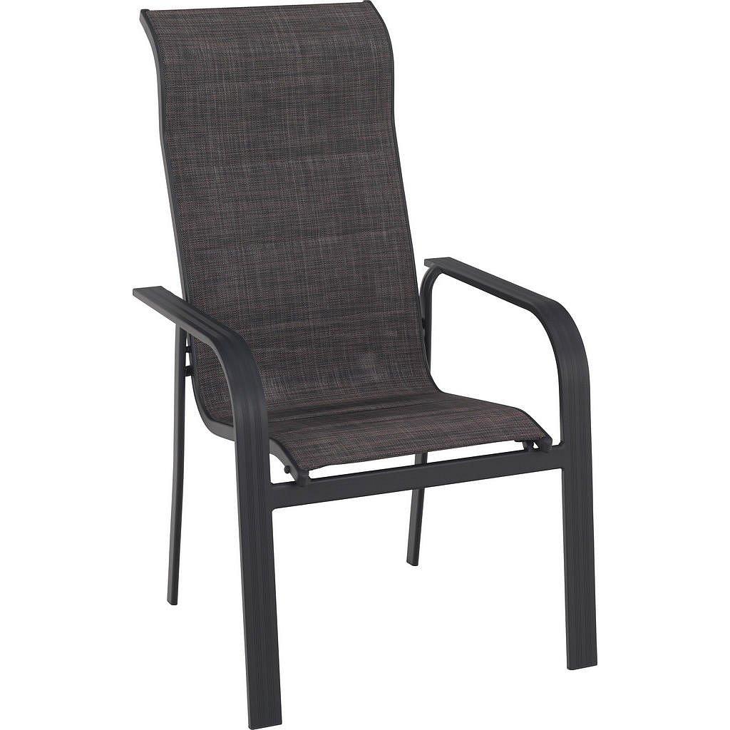 Ambia Garden Stohovatelná Židle, Antracitová, Hnědá, Šedá - Stohovatelné zahradní židle - 002672021501