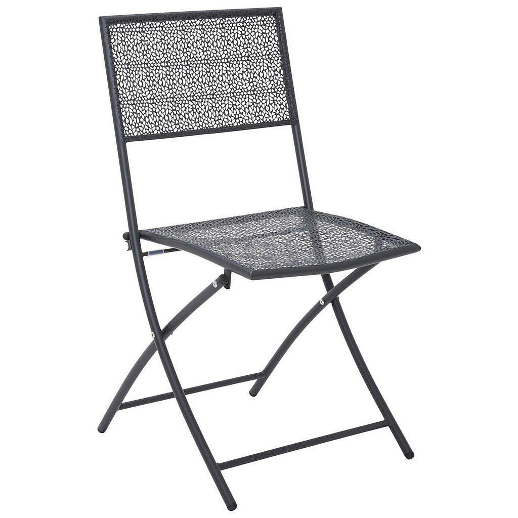 Ambia Garden Zahradní Sklápěcí Židle, Antracitová - Zahradní židle skládací - 002845000801