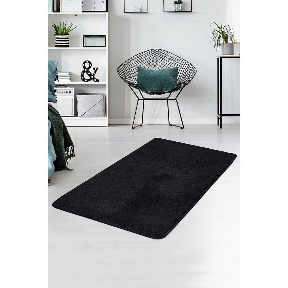 Černý koberec Milano, 140x80cm