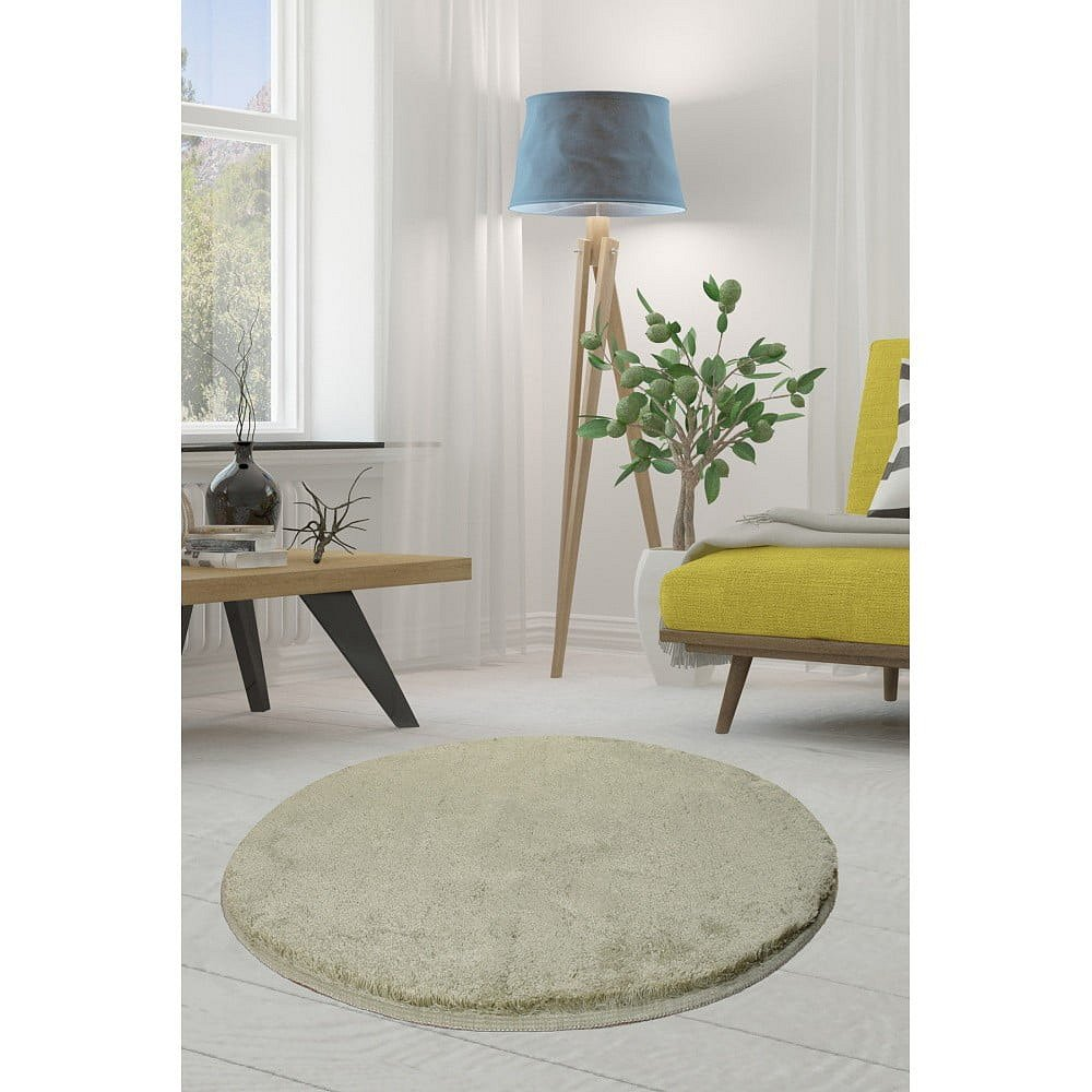 Zelený koberec Milano, ⌀90cm