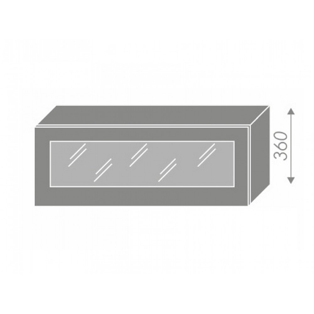 QUANTUM, skříňka horní W4bs 90 WKF, vanilla mat/lava