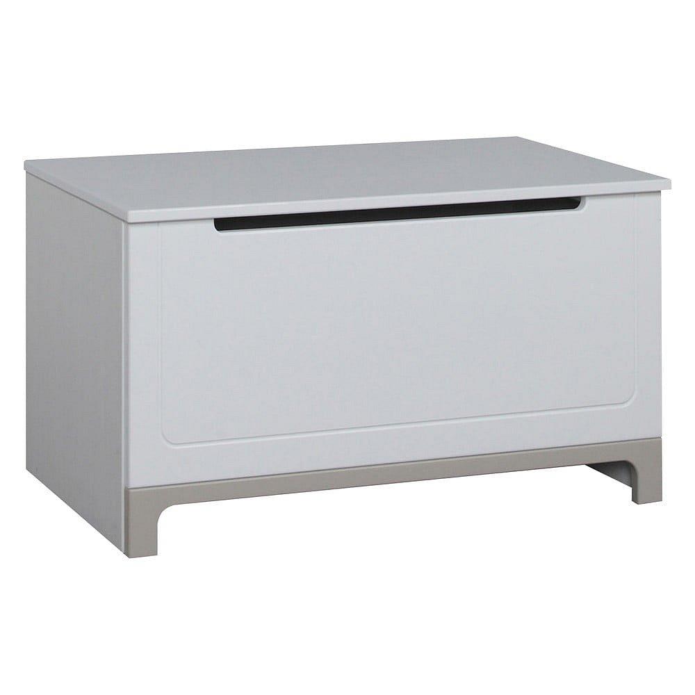 Bílo-šedá truhla na hračky Pinio Mini